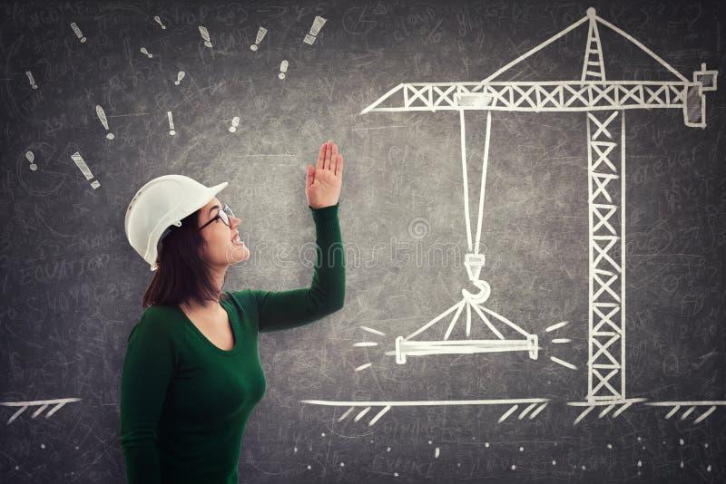 妇女工程师责骂 图库摄影