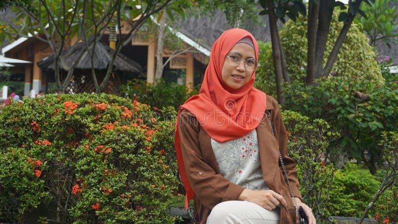 妇女hijab 库存照片