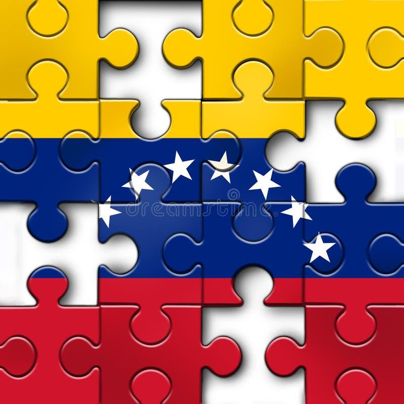 委内瑞拉政治挑战 库存例证
