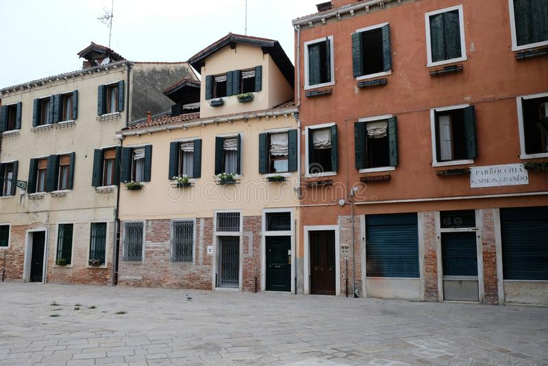 威尼斯意大利美丽的街道 旅行在欧洲 图库摄影