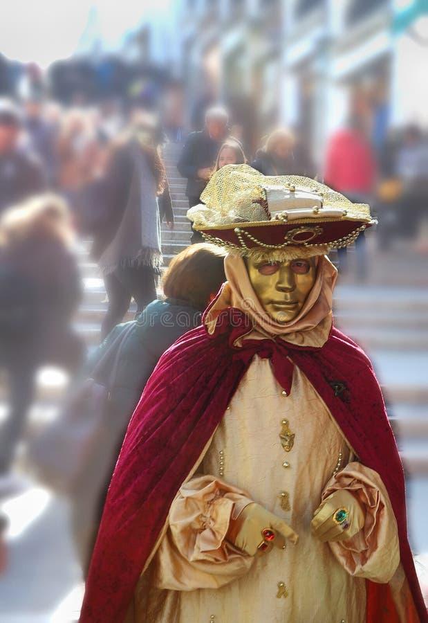 威尼斯狂欢节、服装和面具 库存图片