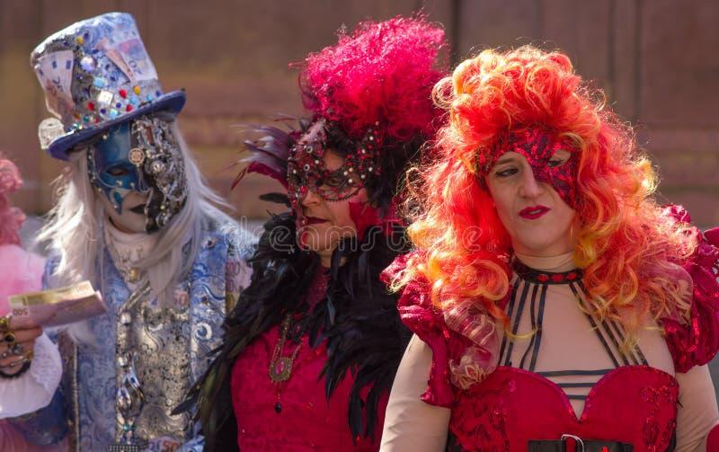 威尼斯面具,狂欢节2019年 免版税库存照片