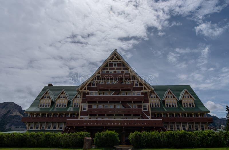 威尔士亲王旅馆在Waterton 库存图片