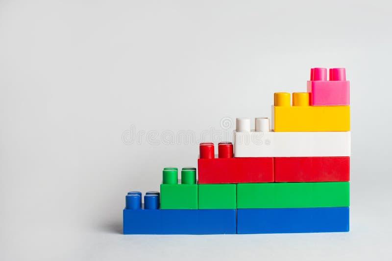 孩子发展、积木和建筑 库存图片