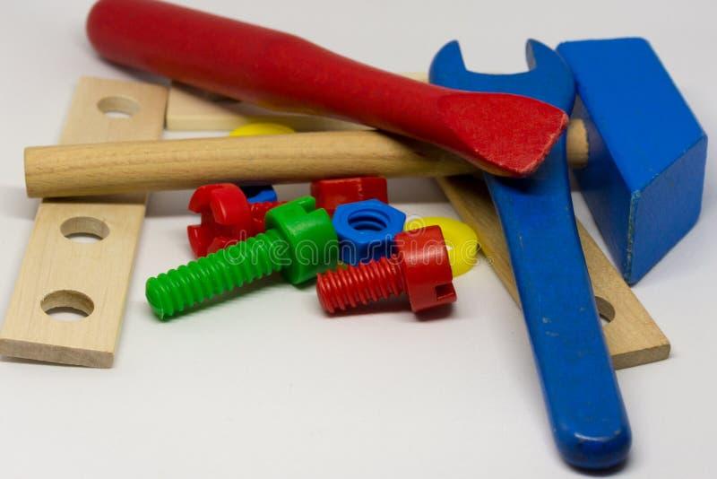 孩子玩具工具 免版税库存照片
