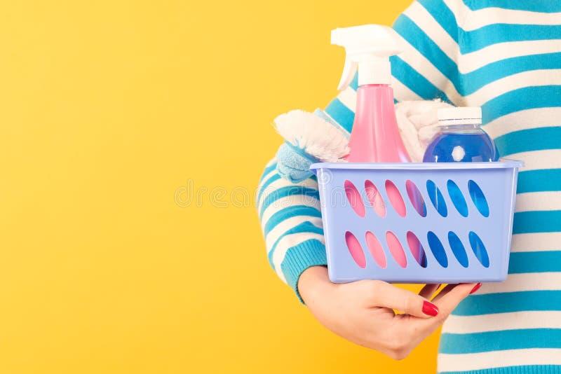 家庭清洁物品家务拷贝空间 库存照片