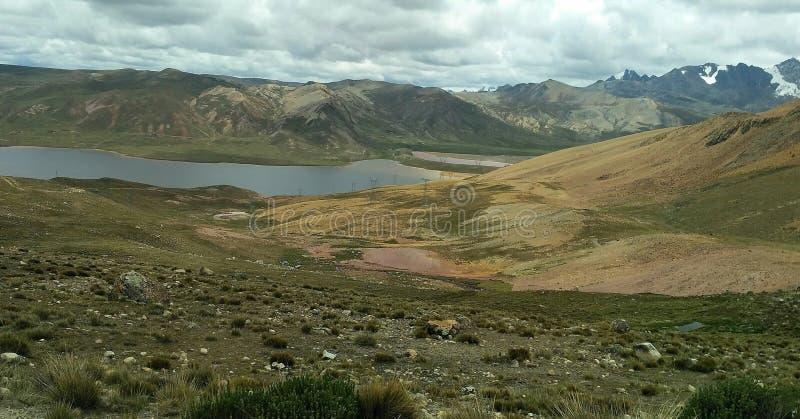 安地斯的山脉在拉巴斯 库存照片