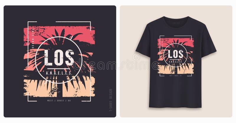安赫莱斯los 图表T恤杉设计,难看的东西被称呼的印刷品 库存例证