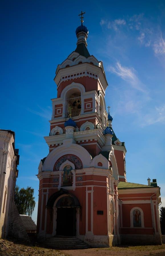 对约阿希姆和安娜教会,mozhaysk莫斯科地区,俄罗斯的外视图 免版税库存照片