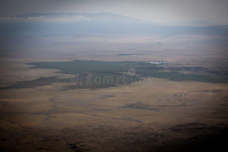 对Ngorongoro国立公园的美丽如画的看法 免版税图库摄影