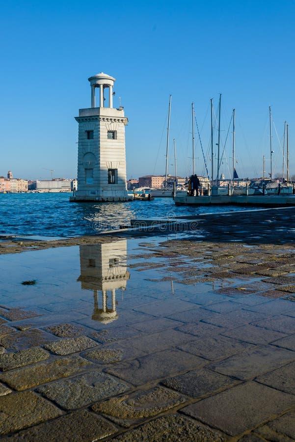 小游艇船坞,威尼斯,意大利 免版税库存图片