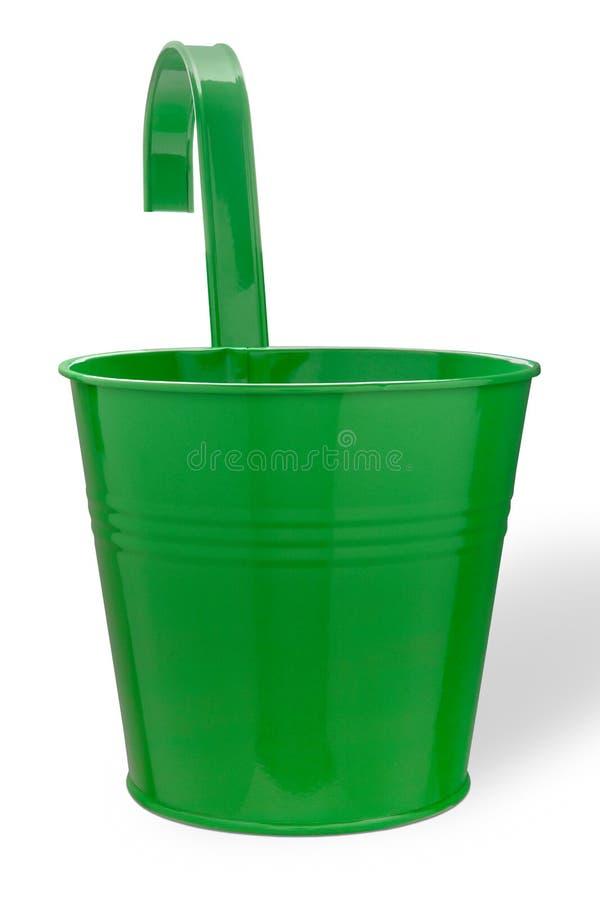 小绿色桶 库存图片