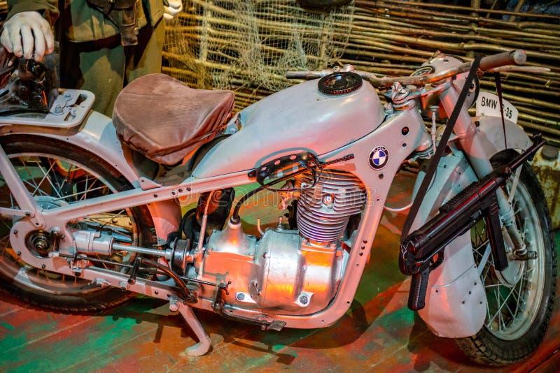 小雅罗斯拉夫韦茨,俄罗斯- 2018年10月:BMW R-35摩托车 免版税库存图片