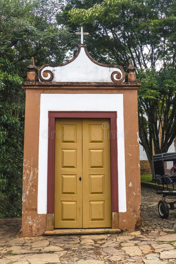 小Tiradentes教会 库存图片
