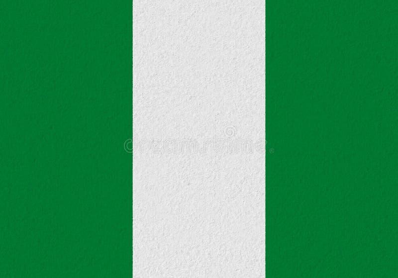 尼日利亚纸旗子 免版税库存图片