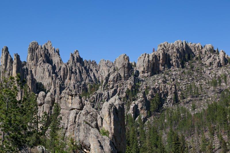 岩层在Custer国家公园 库存照片