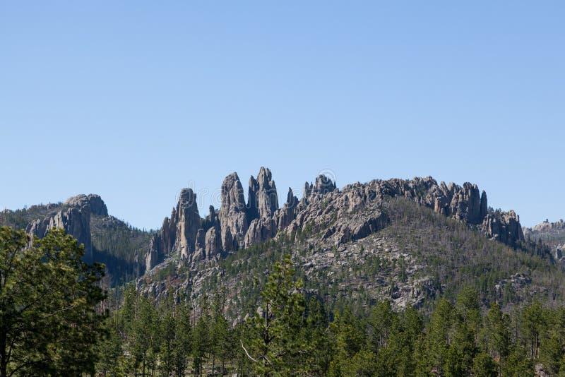 岩层在Custer国家公园 免版税库存图片