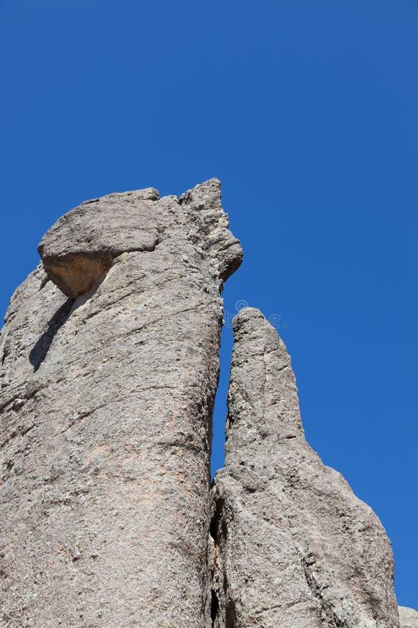 岩层在Custer国家公园 免版税库存照片