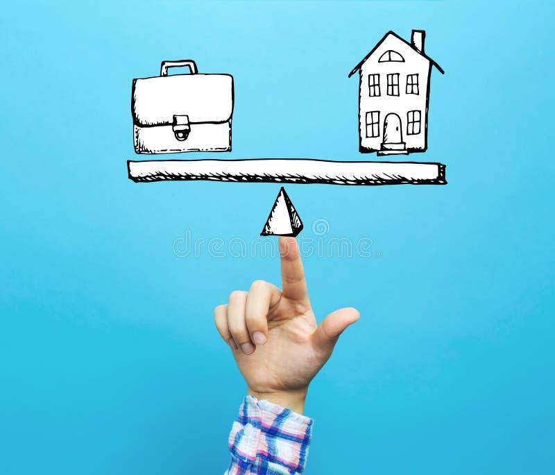 工作和生活平衡用手 库存例证