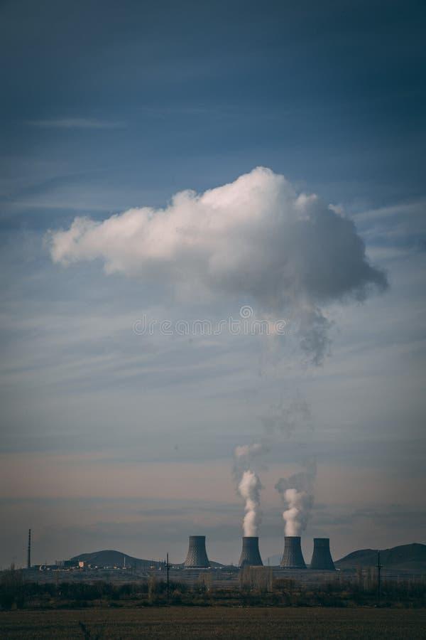 工厂烟 向量例证