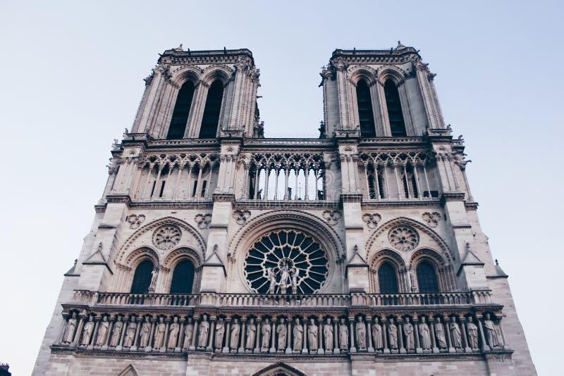 巴黎圣母院更低的视图 库存照片
