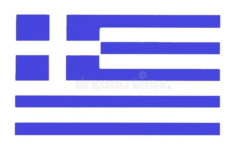 希腊的弯曲的旗子缎纹理  皇族释放例证
