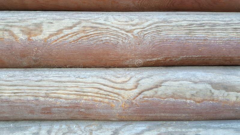 布朗背景,木粱,日志,板 免版税库存照片