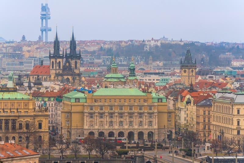 布拉格,捷克共和国 历史奥尔德敦阿列尔景色  库存图片