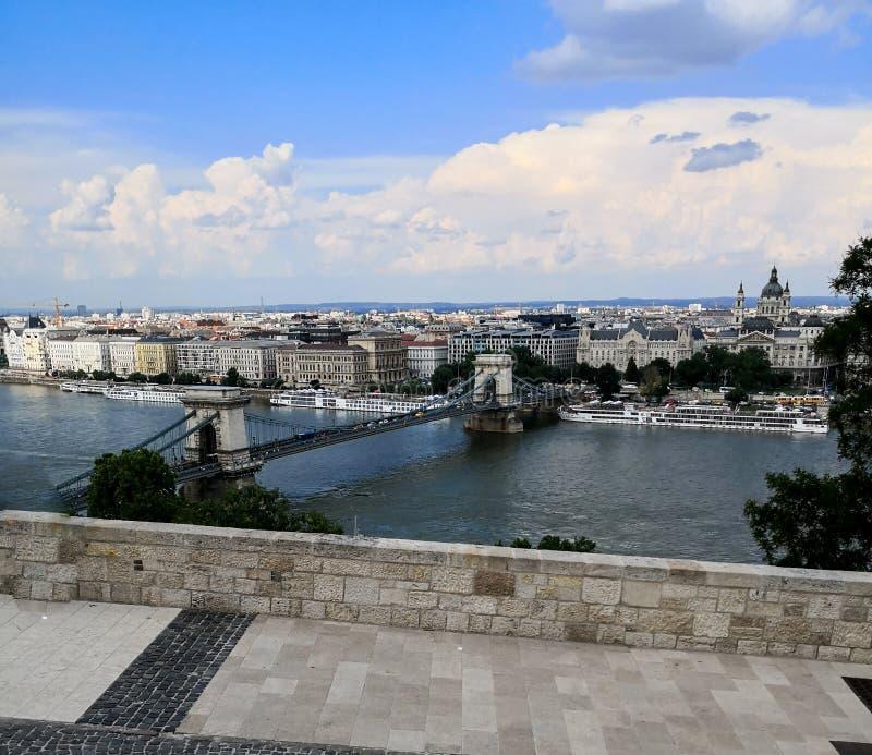 布达佩斯一个不同的看法  免版税库存照片