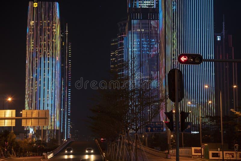 市中心光展示 库存图片