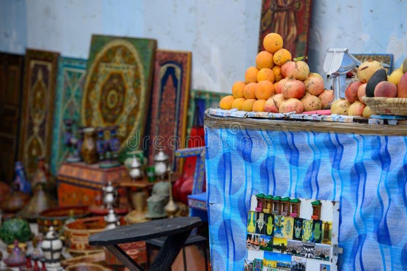 市场在拉巴特,摩洛哥 库存照片