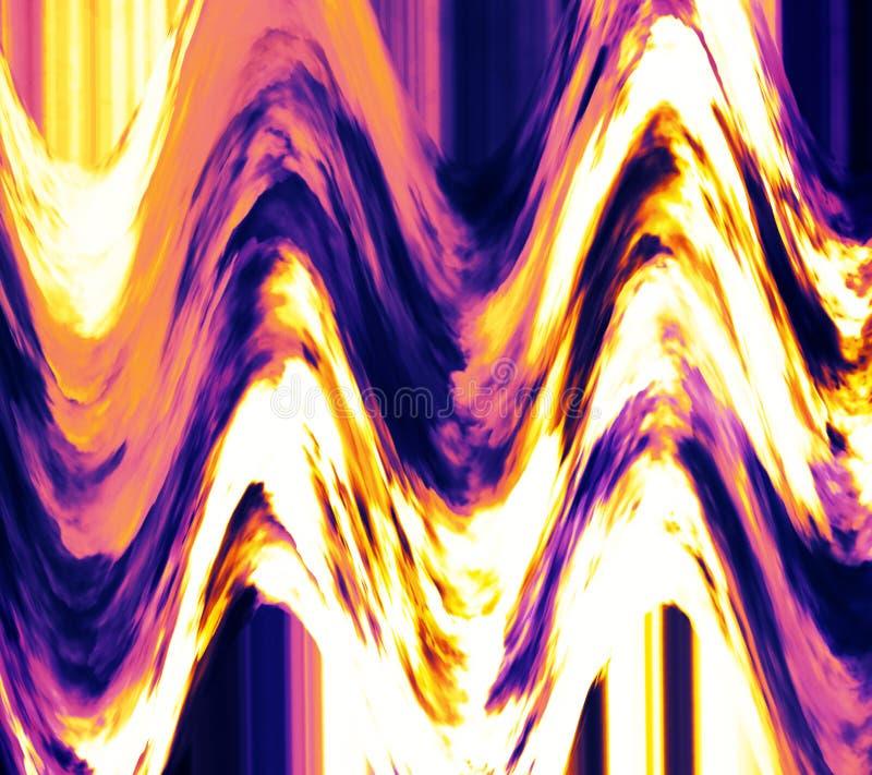 干燥油漆飞溅 波浪多色被设色的纹理 背景幻想文本写您 颜色云彩驱散 明亮的表面 卷曲的拷贝空间 皇族释放例证