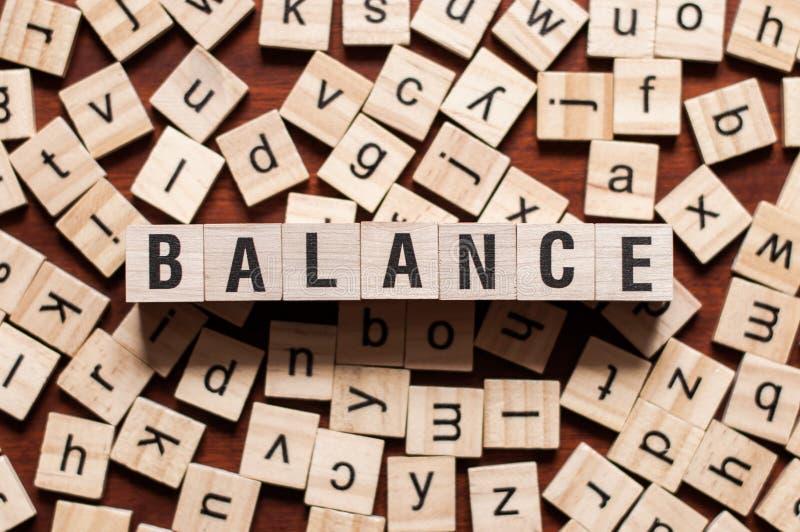 平衡词概念 图库摄影