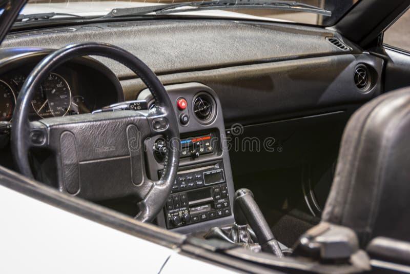 1990年在CAS19的马自达Miata 免版税库存图片