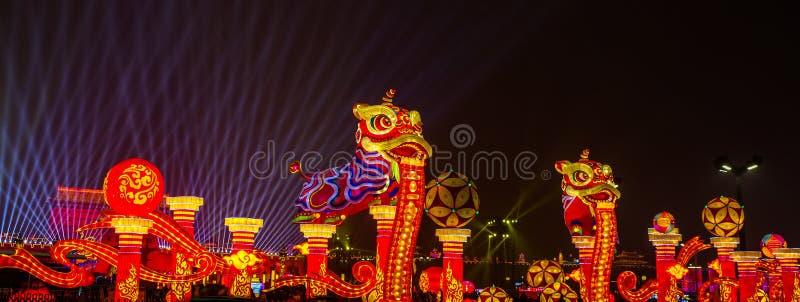 庆祝在西安,中国的春节 库存照片