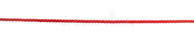 强的红色上升的绳索 库存图片