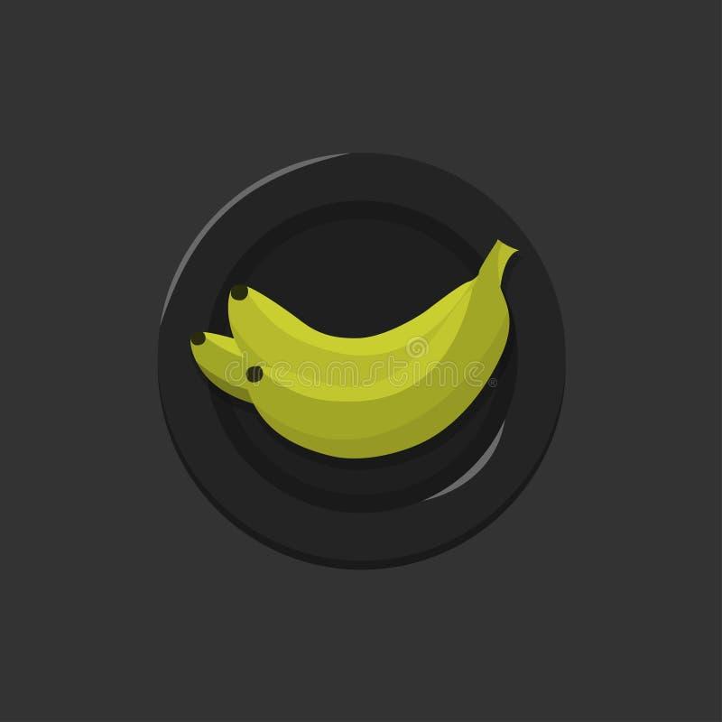 Żółta Bananowa Wektorowa ilustracja royalty ilustracja