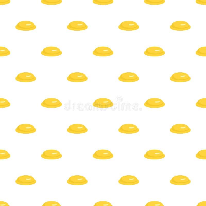 Żółtego kondoma wzoru bezszwowy wektor royalty ilustracja