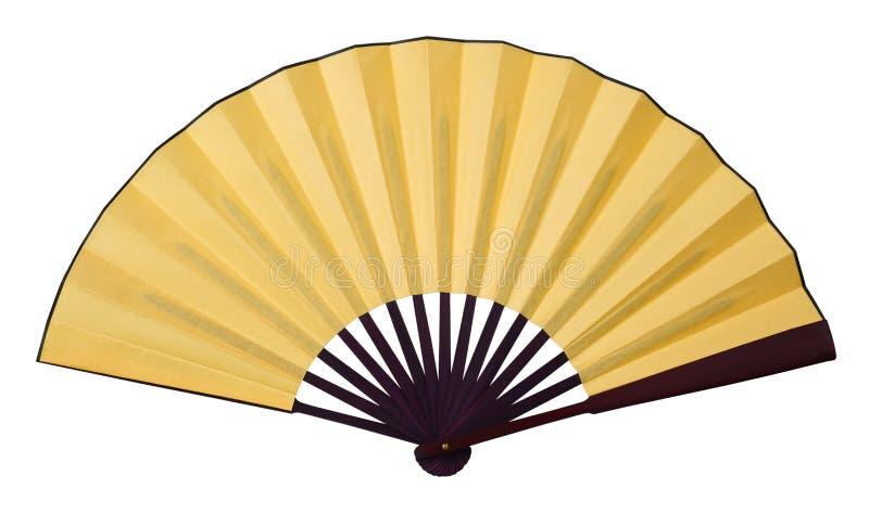 Żółty falcowania fan zdjęcie royalty free