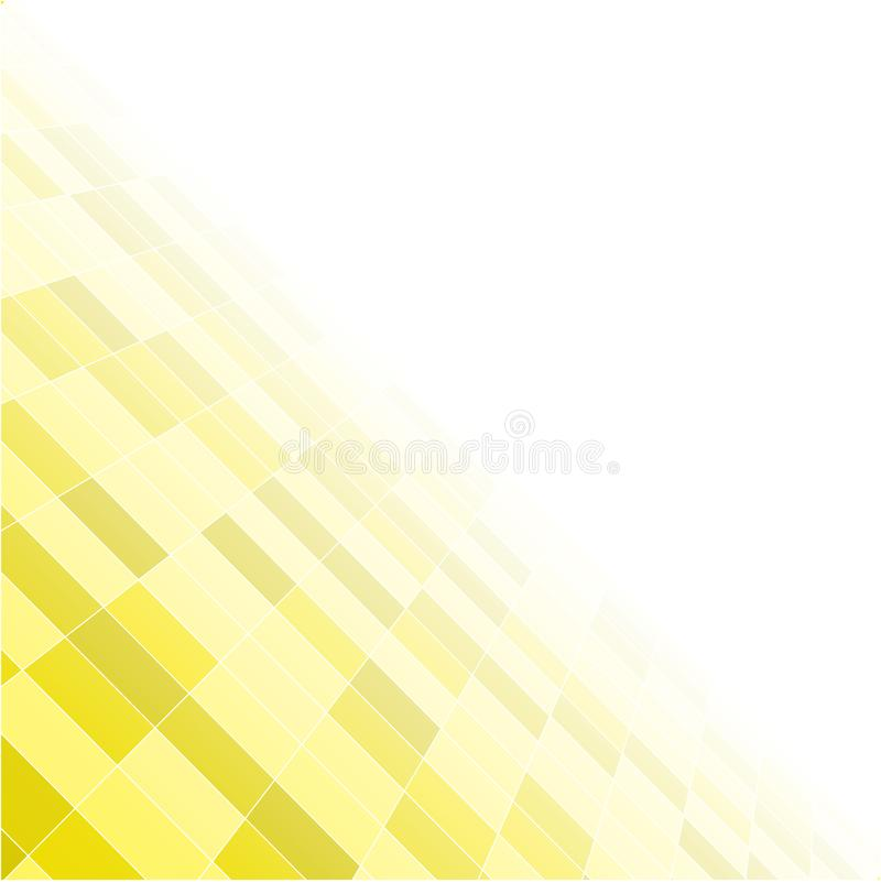 Żółty przypadkowy tło od kwadrat mozaiki płytek ilustracji