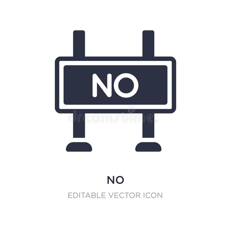 żadny ikona na białym tle Prosta element ilustracja od znaka pojęcia ilustracji