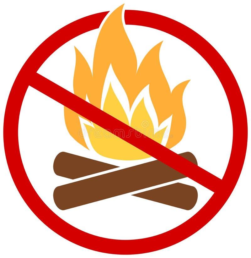Żadny ogień ikona royalty ilustracja