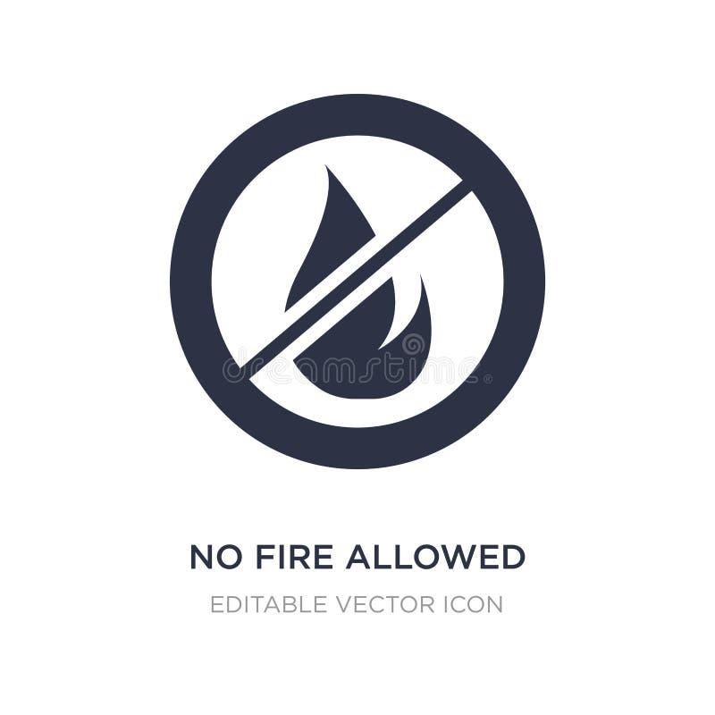żadny ogień pozwolić ikona na białym tle Prosta element ilustracja od znaka pojęcia ilustracji