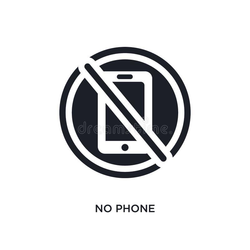 żadny telefon odosobniona ikona prosta element ilustracja od muzealnych pojęcie ikon żadny telefonu logo znaka symbolu editable p ilustracji