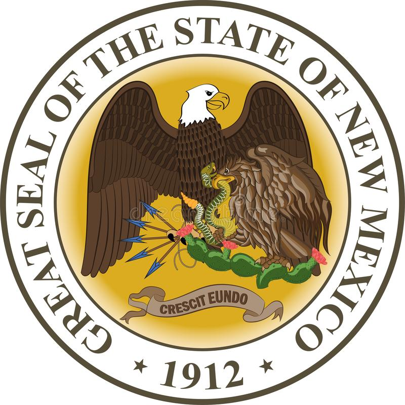 Żakiet ręki Nowy - Mexico, usa ilustracja wektor