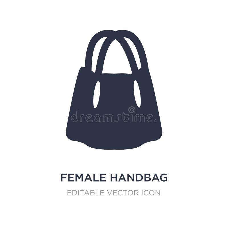 żeńska torebki ikona na białym tle Prosta element ilustracja od mody pojęcia royalty ilustracja