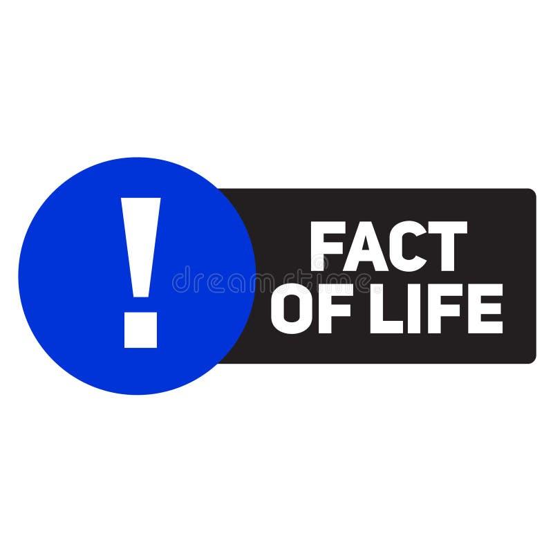 Życiowego fakta reklamowy majcher ilustracji
