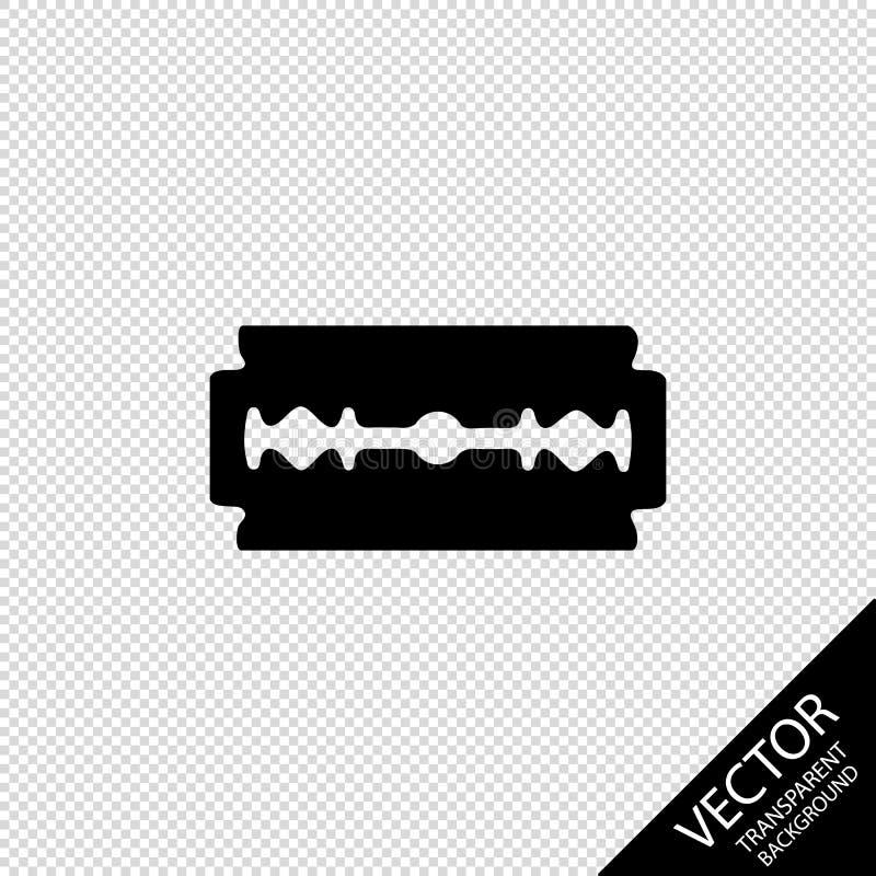 Żyletki ostrza sylwetka Na Przejrzystym Blackground - Wektorowa ilustracja - royalty ilustracja