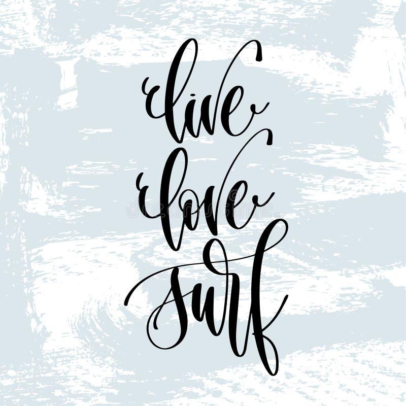 Żywa miłości kipiel - wręcza literowanie typografii plakat o lato czasu pozytywnej wycenie ilustracji