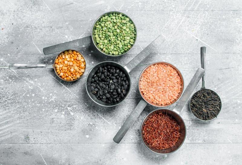 Żywność organiczna legumes różnorodni obrazy stock